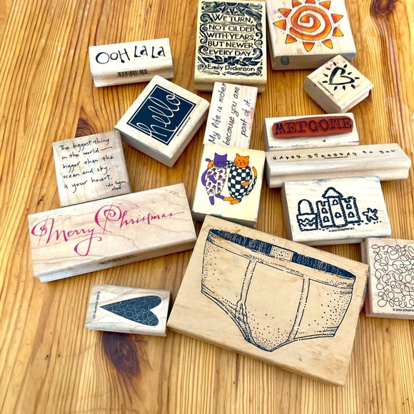 1/2off4• - Bundle of 14 rubber stamps